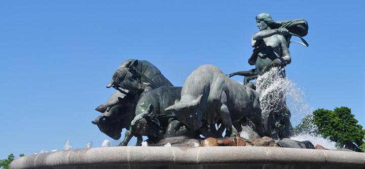 Estátua da Deusa Gefion na Mitologia Nórdica