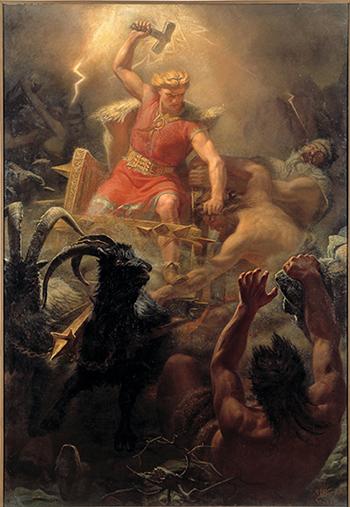 Thor em sua carruagem